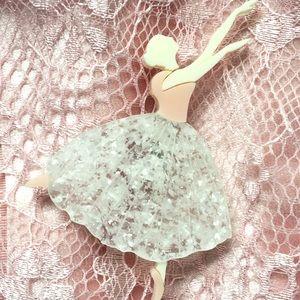 Deer Arrow Tiny Dancer Ballerina Ballet Brooch